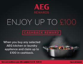AEG Digital Assets for Spring Cashback