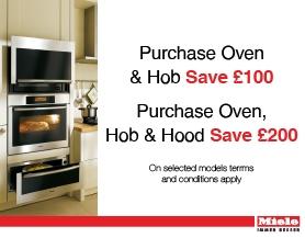 Miele - Purchase Oven & Hob Save £100 | Purchase Oven, Hob & Hood Save £200