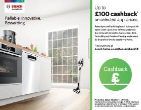 Bosch Upto £100 Cashback Promotion