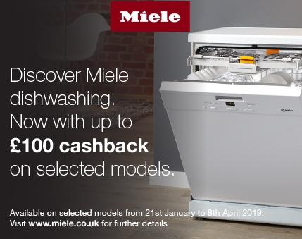 Miele Upto £100 cashback on selected dishwashers