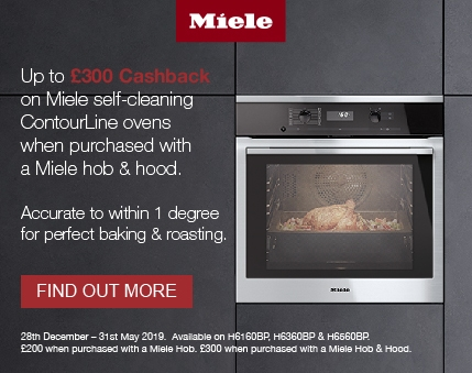 Miele - Upto £300.00 cashback on selected purchases