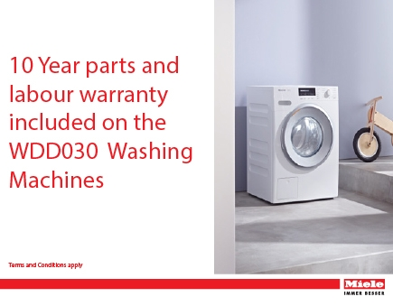 miele - 10 year parts and labour WDD030