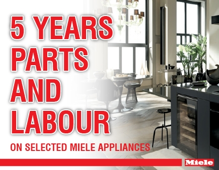 Miele - 5 year parts and labour warranty included on Selected Washing Machines