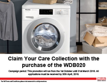 Miele - Claim Your Care Collection with the purchase of the WDB020