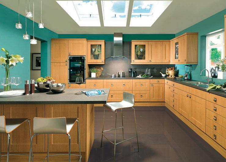 Flaxley Lancaster Oak Kitchen