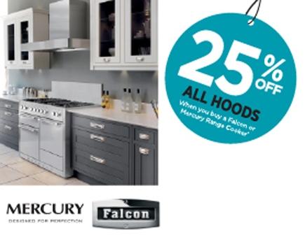 Falcon - 25% off all hoods when you buy a Falcon or Mercury Range cooker
