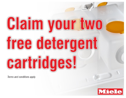 Miele - Claim Your Two Free Detergent Cartridges