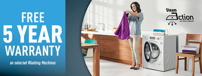 Panasonic - 5 Years Free Extended Warranty On Laundry Products