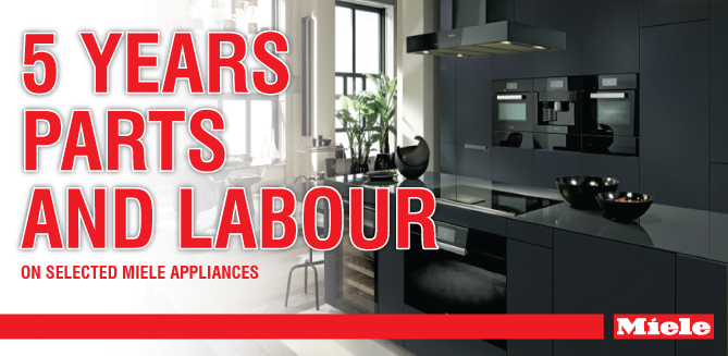 5 years warranty on selected appliances