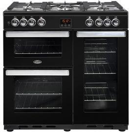 belling Cook Centre 90dft Dual Fuel Black 444444071