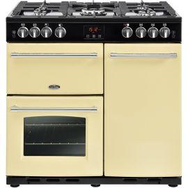 belling 444444129 90cm Farmhouse Cream Gas Range Cooker