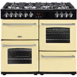 belling 444444135 100cm Cream Dual Fuel Farmhouse Range Cooker