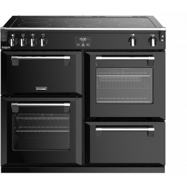 Stoves Richmond Deluxe S1000Ei Black 100cm Electric Induction Range Cooker