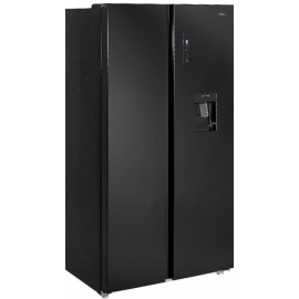 Teknix TSBSW911772B American Fridge Freezer with Water Dispenser - Black