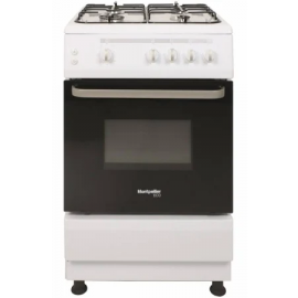 Montpellier SCG60W Single Gas Oven & Grill 4-Burner Hob
