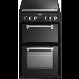 Stoves Richmond MiniRange 550E Black Ceramic Electric Cooker with Double Oven
