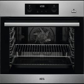 AEG BPS355220M Single Pyrolytic Electric Oven With SteamBake