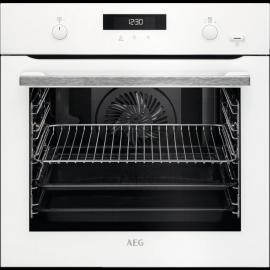 AEG BPS555020W SteamBake Single Electric Pyrolytic Oven White