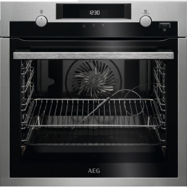 AEG BPS556020M SteamBake Single Electric Pyrolytic Oven