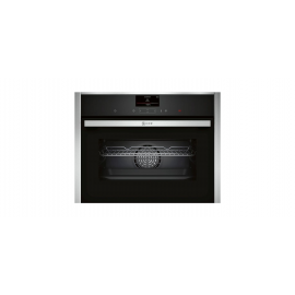 NEFF C27CS22H0B Built In Compact Oven - Black / Stainless Steel