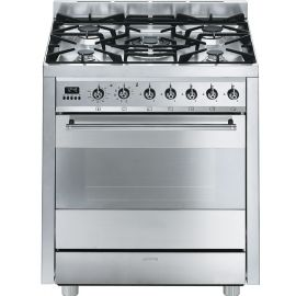 Smeg C7GPX8 70cm Stainless Steel Dual Fuel Cooker