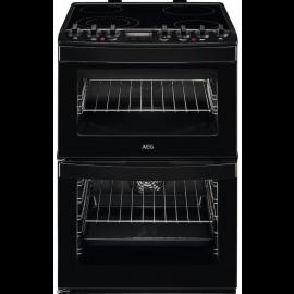 AEG CCB6740ACB 60cm Electric Ceramic Double Oven Black