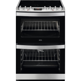 AEG CCB6740ACM 60cm Electric Ceramic Double Oven Sainless Steel