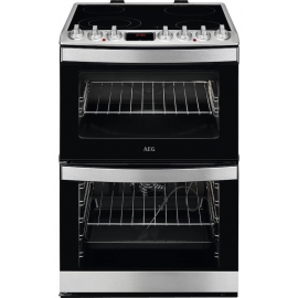 AEG CCB6760ACM 60cm Electric Ceramic Cooker Stainless Steel