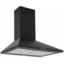 Caple CCH601BK 60cm Black Chimney Hood
