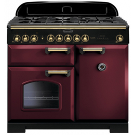 Rangemaster Classic Deluxe 100 Dual Fuel Cranberry/Brass CDL100DFFCY/B