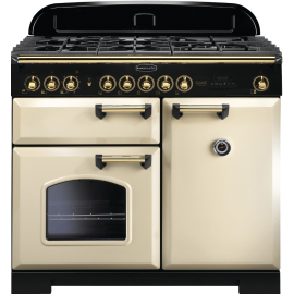Rangemaster Classic Deluxe 100 Dual Fuel Cream/Brass CDL100DFFCR/B