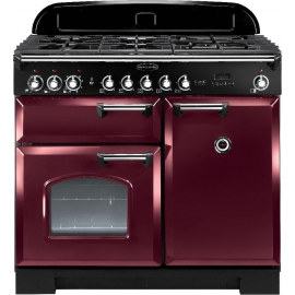 Rangemaster Classic Deluxe 100 Dual Fuel Cranberry And Chrome CDL100DFFCY/C
