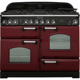 Rangemaster Classic Deluxe 110 Dual Fuel Cranberry And Chrome CDL110DFFCY/C