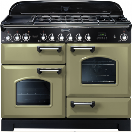 Rangemaster Classic Deluxe 110 Dual Fuel Olive Green And Chrome CDL110DFFOG/C
