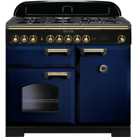 Rangemaster Classic Deluxe 100 Dual Fuel Blue/Brass CDL100DFFRB/B