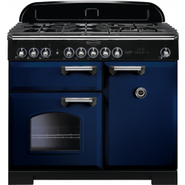 Rangemaster Classic Deluxe 100 Dual Fuel CDL100DFFRB/C Blue/Chrome