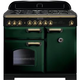 Rangemaster Classic Deluxe 100 Dual Fuel CDL100DFFRG/B green/brass