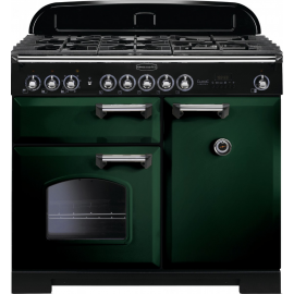 Rangemaster Classic Deluxe 100 Dual Fuel Racing Green/Chrome CDL100DFFRG/C