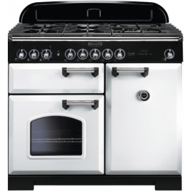 Rangemaster Classic Deluxe 100 Dual Fuel White/Chrome CDL100DFFWH/C