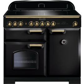 Rangemaster Classic Deluxe 100 Electric (Induction) Black And  Brass CDL100EIBL/B
