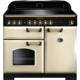 Rangemaster CDL100EICR/B Classic Deluxe 100 Electric (Induction) Cream& Brass