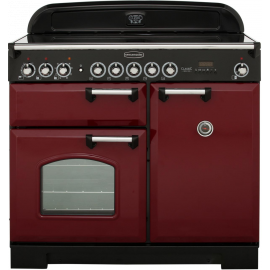 Rangemaster Classic Deluxe 100 Electric (Induction) CDL100EICY/B Cranberry/Chrome