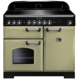 Rangemaster Classic Deluxe 100 Electric (Induction) Olive Green CDL100EIOG/C