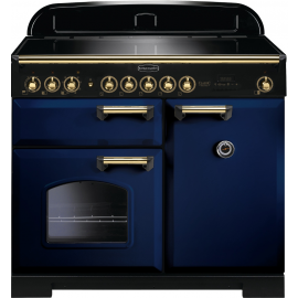Rangemaster Classic Deluxe 100 Electric (Induction) CDL100EIRB/B Regal Blue/Brass