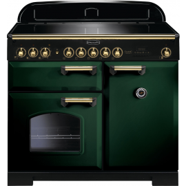 Rangemaster Classic Deluxe 100 Electric (Induction) CDL100EIRG/B Racing Green/Brass