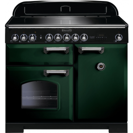 Rangemaster Classic Deluxe 100 Electric (Induction) Racing Green/Chrome