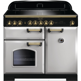 Rangemaster CDL100EIRP/B Classic Deluxe 100 Electric (Induction) Royal Pearl/Brass