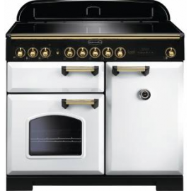 Rangemaster Classic Deluxe 100 Electric (Induction) CDL100EIWH/B White/brass