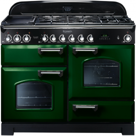 Rangemaster Classic Deluxe Dual Fuel Racing Green And Chrome CDL110DFFRG/C