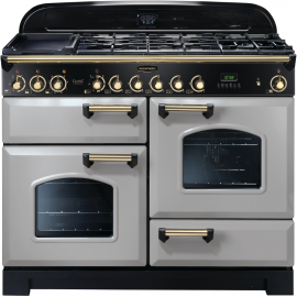 Rangemaster Classic Deluxe Dual Fuel Royal Pearl And Brass CDL110DFFRP/B